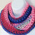 Infinity Moebius Scarf, spiral crocheted in Preppy Color Stripes lightweight