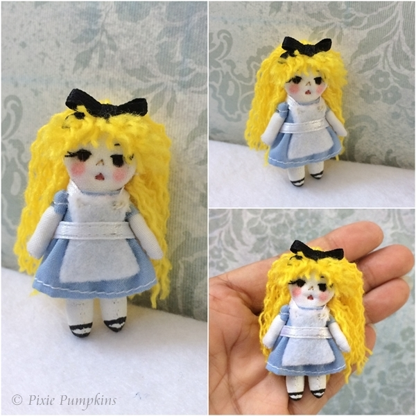 Alice in Wonderland Cloth Doll, Fairytale Doll, Gift for Her, Ooak Doll Gift,