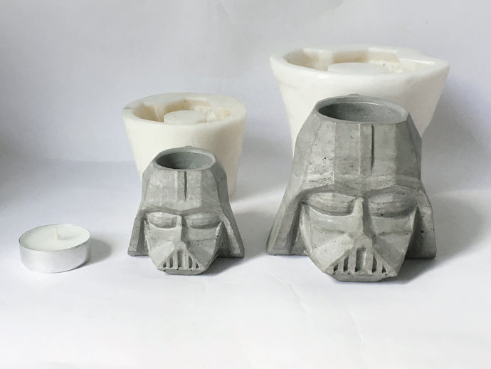 Silicone Mold Darth Vader Mould Concrete By Lgsiliconemolds On Zibbet