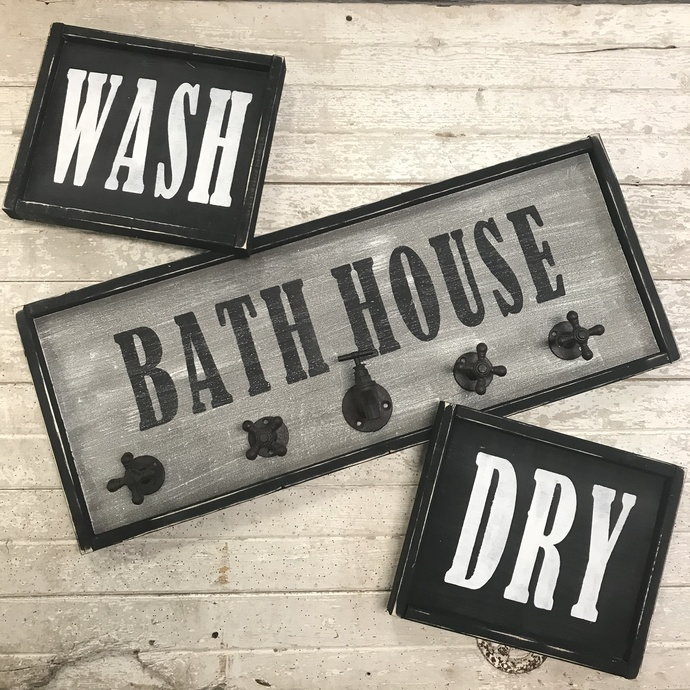 DIY- Bath House/ Laundry Room Trio