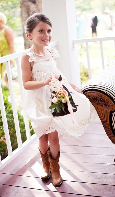 b7cf71a347 Cute White Flower Girl Dress - Square Neck Short by Hiprom on Zibbet