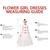Ball Gown Halter Backless Floor-Length Flower Girl Dress with Sash
