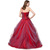 Red Prom Dresses Showcases Floral One Shoulder And Lace-Up Back - Sweet 16