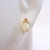 Single Vintage Estate 14K Yellow Gold Stud Earring w/ Opal Stone 0.6g E1816