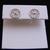 Pr Womens Vintage Estate 14K White Gold Filigree Stud Earrings, .7g E1814