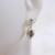 Single Vintage Estate 14K White Gold Stick, Dangle Earring, .7g E1818