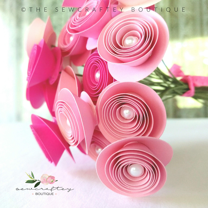Jennifer flowers paper flowers flower by sewcraftey on zibbet jennifer flowers paper flowers flower bouquet handmade paper flowers paper mightylinksfo