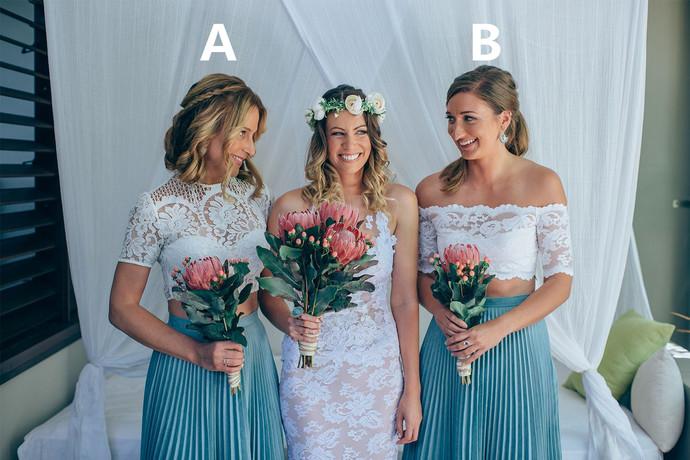 Elegant Blue Party DreElegant White Lace Bridesmaid Dress,Floor Length Long