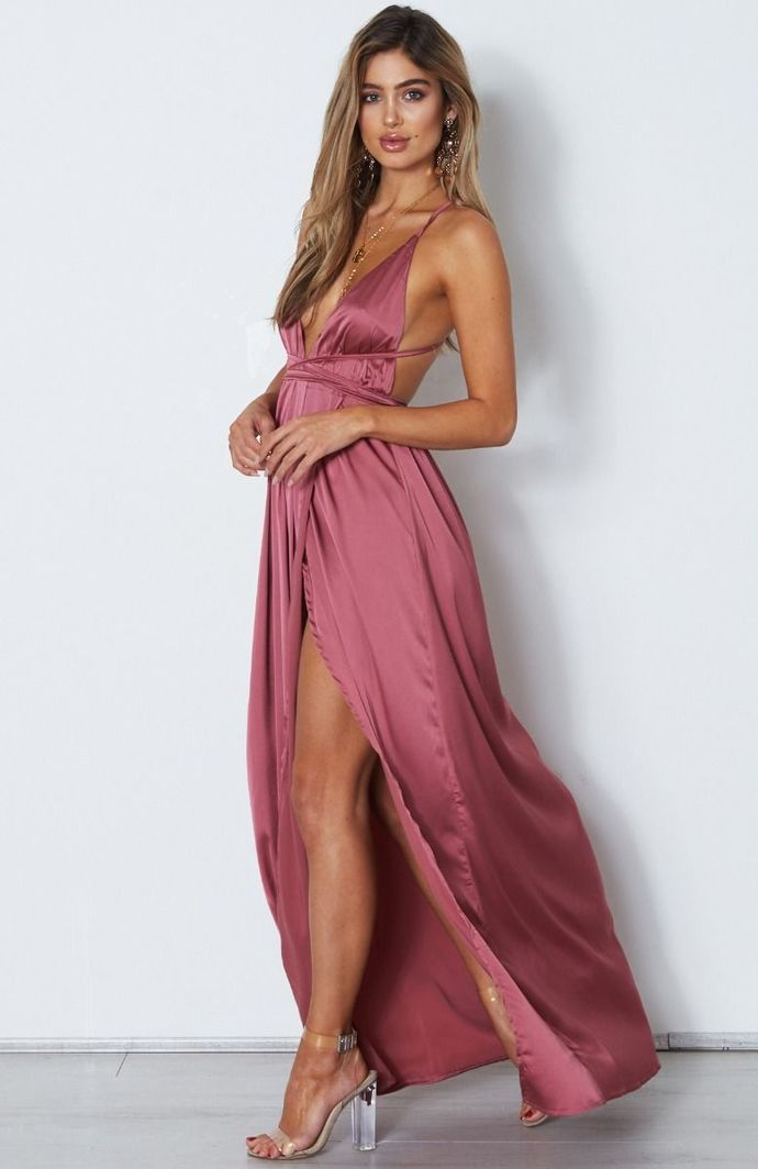 Elegant Pink Prom Dress,Spaghetti Straps Sleeveless Evening Dress