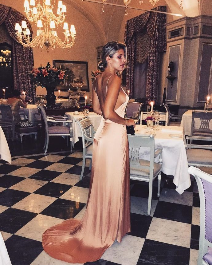 Sexy Open Back Prom Dress,Spaghetti Straps Long Prom Dress,Sweep Train Party