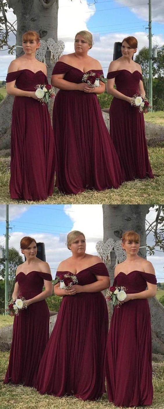 ded9d44be6 simple off shoulder bridesmaid dress