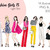 Watercolour fashion illustration clipart - Fashion Girls 15 - Light Skin