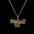 "Womens Vintage Estate 14K Yellow Gold "" Hawaii 85 "" Pendant w/ Necklace 1.5g"