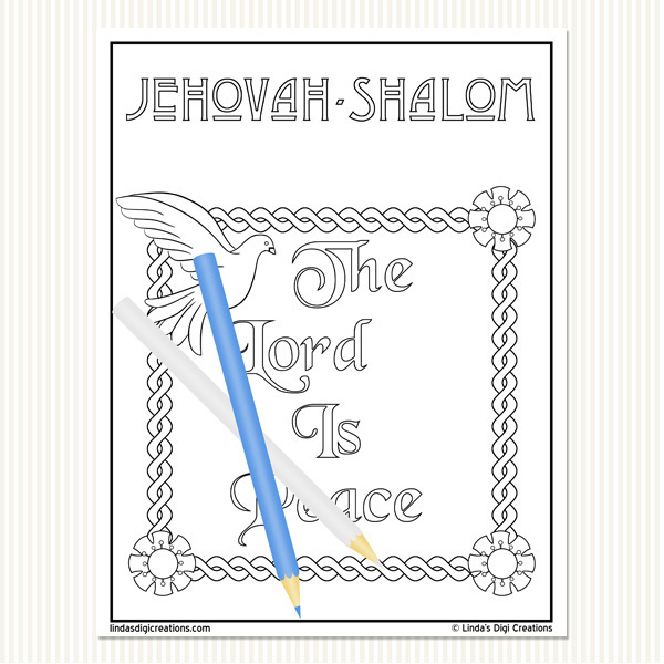 Names Of God Printable Adult Coloring Pages Set 2