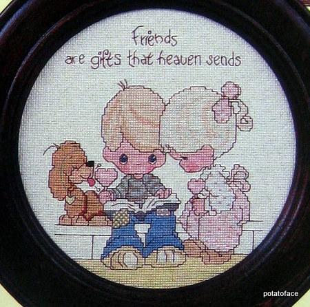 Precious Moments Cross Stitch Vintage Pattern Book Dear Jon
