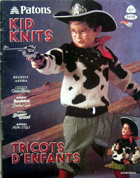 Patons Kid Knits Vintage Pattern, Knitting Pattern Book