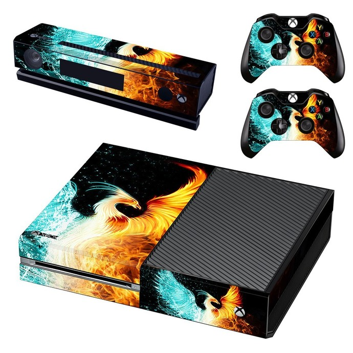 Your Soaring Phoenix decal skin for xbox one console and 2 controllers