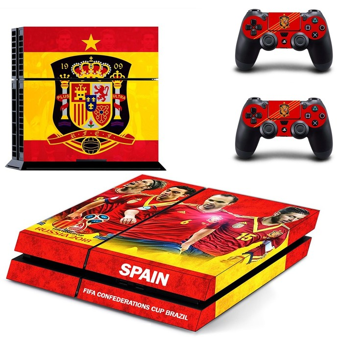 Spain National FT ps4 skin decal for console and 2 controllers