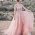 Blush Pink Wedding Dresses,White Lace Appliques Wedding Dress,See Through Bodice