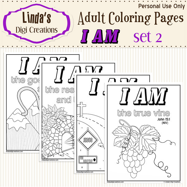 I Am Printable Adult Coloring Pages Set 2