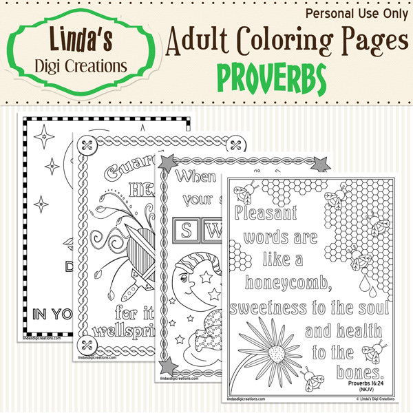 Proverbs Printable Adult Coloring Pages