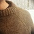 Mens wool sweater - custom handknit in various sizes and gray, blue, black,