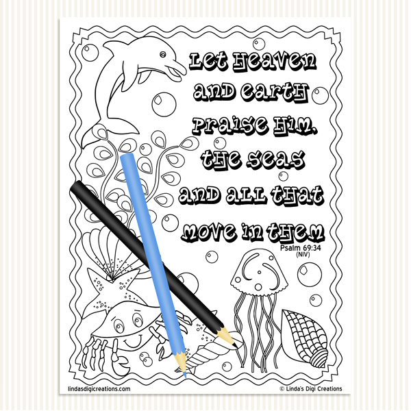 The Scriptures Printable Adult Coloring Pages Set 5
