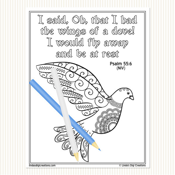 Psalms Printable Adult Coloring Pages