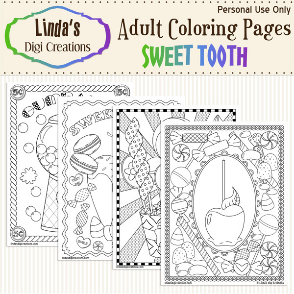 Sweet Tooth Printable Adult Coloring Pages
