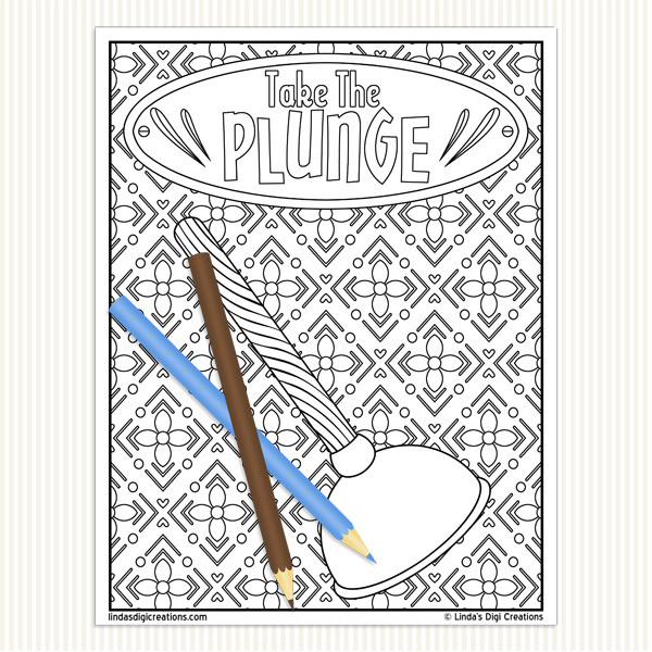 Bathroom Talk Printable Adult Coloring Pages