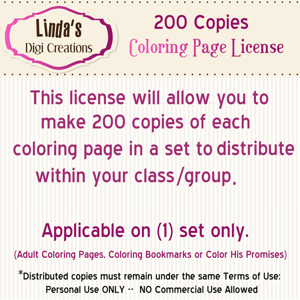 Coloring page License (200)