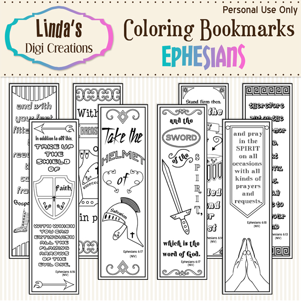 Ephesians Coloring Bookmarks