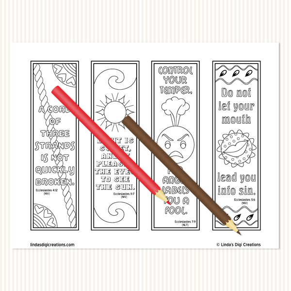 Ecclesiastes Coloring Bookmarks