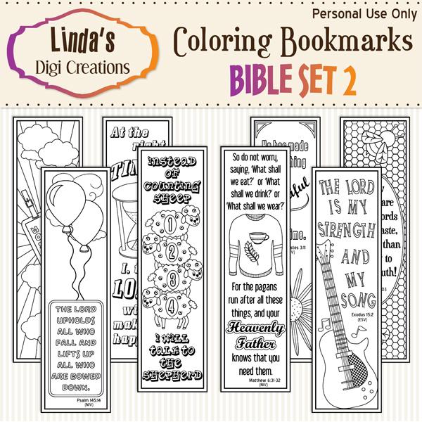 Bible Set 2 Coloring Bookmarks