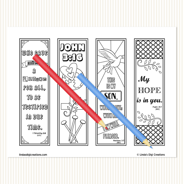Bible Set 1 Coloring Bookmarks