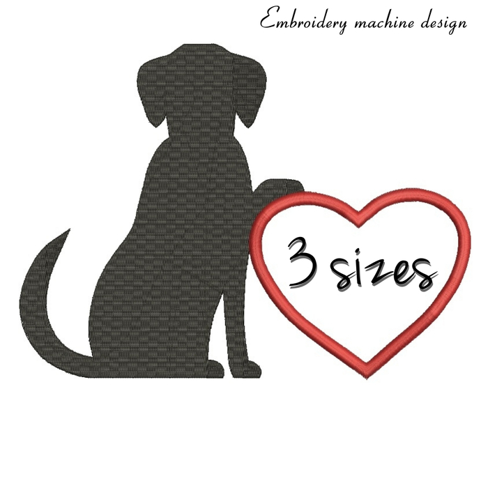 Dog Embroidery machine designs Heart Monogram Frame Hoop Pes FileInstant Digital