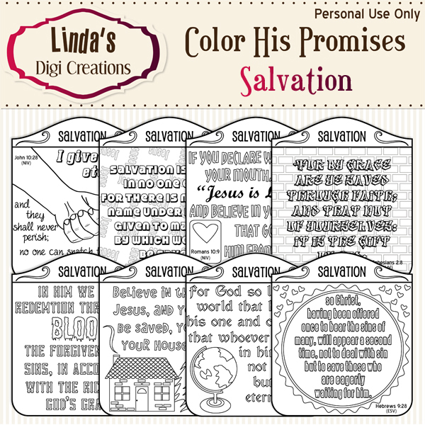 Color His Promises -- Salvation