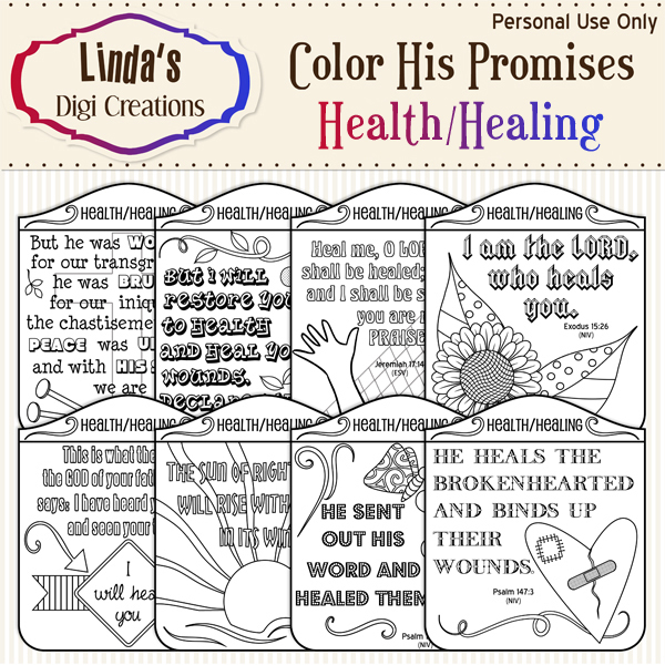 Color His Promises -- Health/Healing