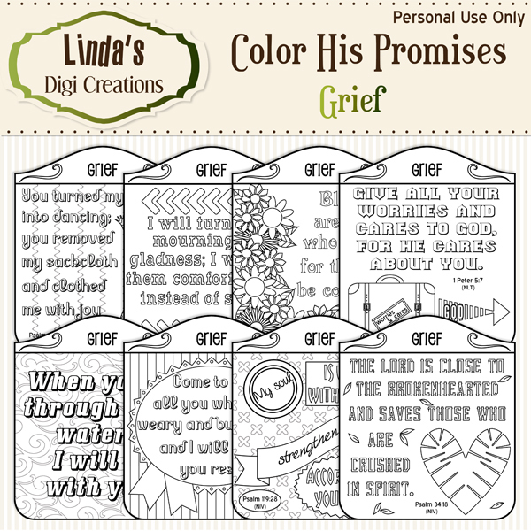 Color His Promises -- Grief