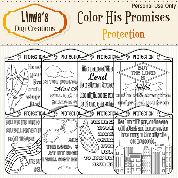 Color His Promises -- Protection
