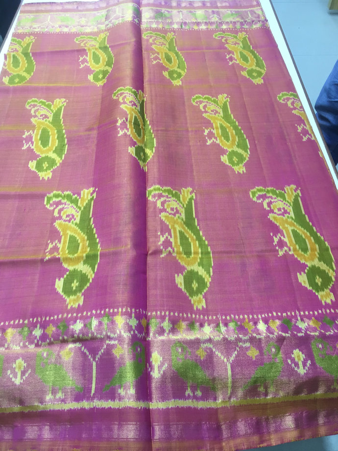 Premium Pure Silk Single Ikat Patola Saree -Ready to ship