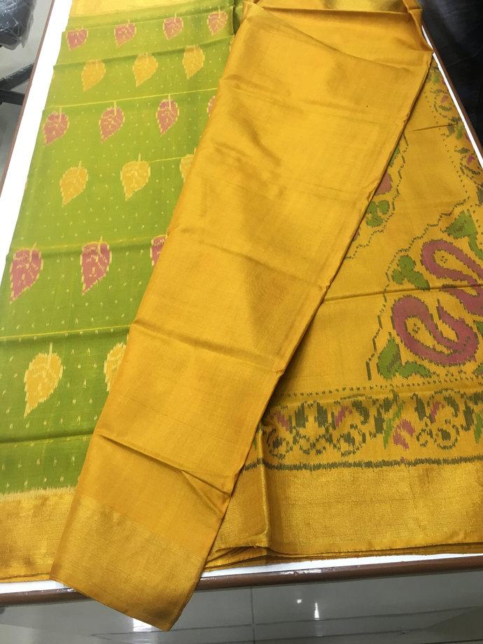 Premium Pure Silk Single Ikat Patola Saree -Ready to ship