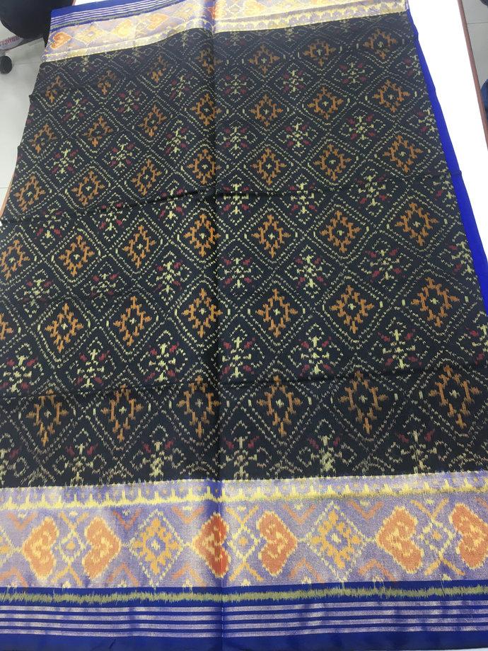 Premium Pure Silk Single Ikat Patola Saree