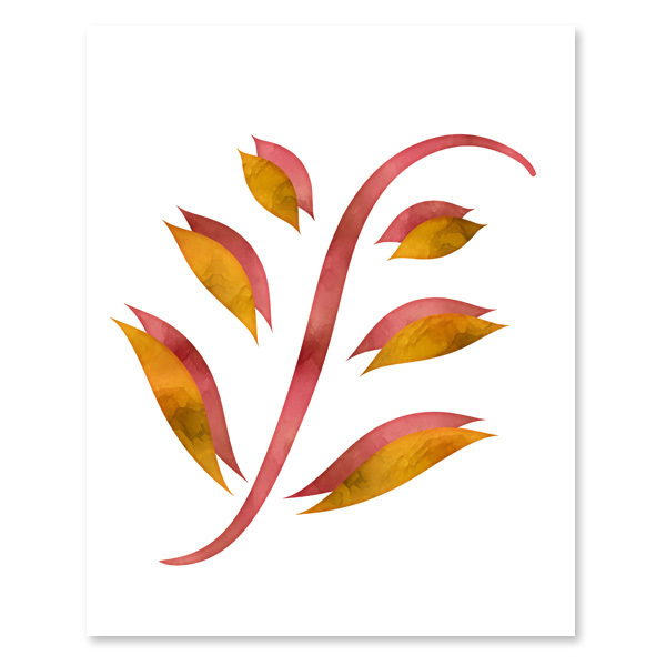 Red & Golden Yellow Foliage Set - Printable Wall Art