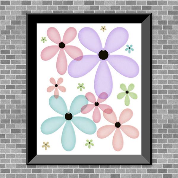 Pastel Flowers - Printable Wall Art