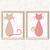 Cats - Polka Dot Set - Printable Wall Art