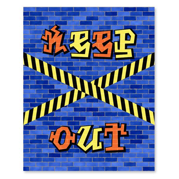 Keep out - Graffiti - Printable Wall Art