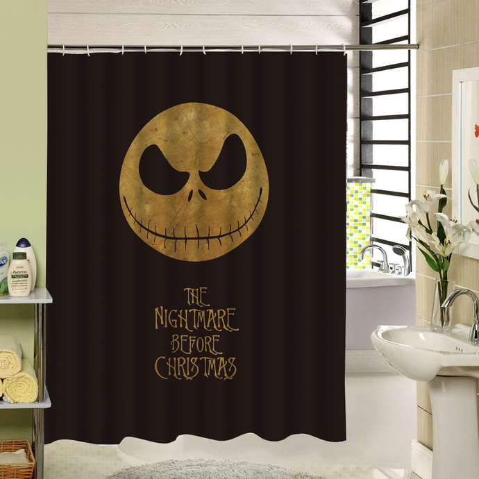 happy halloween nightmare before christmas 20 waterproof fabric shower curtain