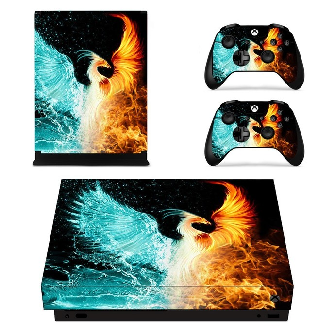Your Soaring Phoenix xbox one X skin decal for console and 2 controllers