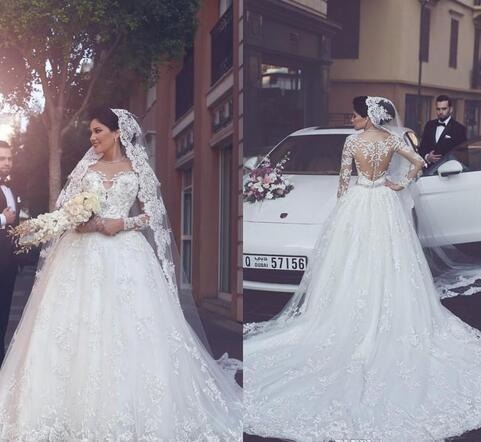 2018 Gorgeous Scoop Neck Ball Gown Wedding by Miss Zhu Bridal on